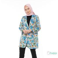 Outerwear Muslim Wanita | Chic Flower Blazer Pink | S M L XL