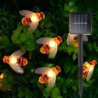 lampu hias dekor kafe resto tenaga surya otomatis nyala sensor cahaya