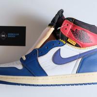 Union LA x Nike Air Jordan 1 High Blue Toe H12 Godkiller 2.0 1:1 UA - 43