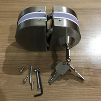 Kunci Pintu Kaca Tambahan 12 Mm Model Kait Hook Glass Door Lock