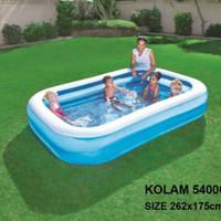 kolam renang anak jumbo bestway 54006 262 cm + pompa listrik - kolam saja