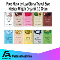 Travel Size Face Mask by Lea Gloria 10Gram - Face Mask Organik Travel