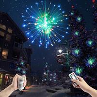 lampu led hias gantung kembang api firework meteor rain remote kontrol