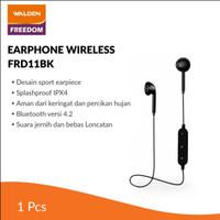Walden Earphone Wireless Sport Black / Earphone Bluetooth FRD11BK