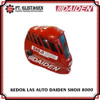 Daiden Topeng Las Kedok Las Helm Auto Dark Shoji 8000 Merah 4 Sensor