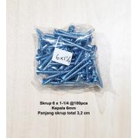 Skrup 6 x 1-1/4 inch 100Bh