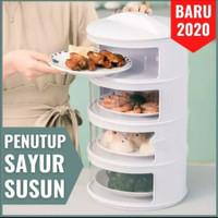 Tudung Saji Susun 4 Rak Penutup Makanan Lauk Food Storage Multilayer