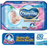 Tissue basah mamy poko baby wipes isi 52