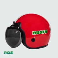 Nussa - X Marzano Arzo Helm Stripe Kids (1-7tahun) - Merah