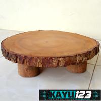 Cutting Board Diameter 30-32 cm Talenan Tatakan Kayu Rustic (WCB-20)