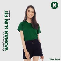 Slim Fit Wanita - Kaos oblong polos cotton combed 30s - XS