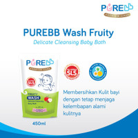 Pure Baby Wash Fruity Sabun Mandi Anak Refill 450 ml