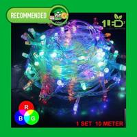 Lampu Hias Dekorasi 100 LED 10 Meter RGB Tumblr Lampu Natal 8 Mode