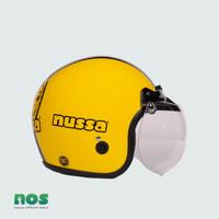 Nussa - X Marzano Arzo Helm Stripe Dewasa - Kuning