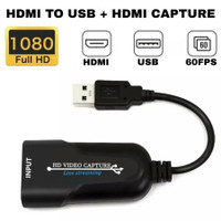 Portable USB 3.0 HDMI Game Capture Card 1080P Streaming Live Adapter