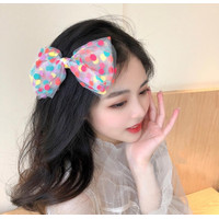 Jepit Rambut Bow Fairy Hair Clips Korea Bow Gauze Lace Polkadot Girl
