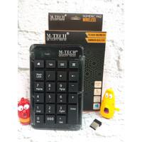(SERUNI) Keyboard Wireless M-TECH Numpad Numeric Keyboard Numerik