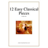 Buku Piano 12 easy classical pieces