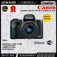 Canon EOS M50 Kit 15-45mm Hitam - FREE Accessories - Unit Only