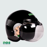 Nussa - X Marzano Arzo Helm Flagrace Dewasa - Hitam