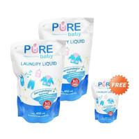 Pure Baby Laundry Liquid 450ml Buy 2 Get 1 Free