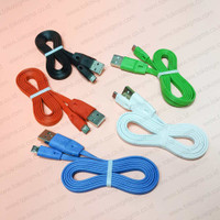 Kabel Micro USB DATA Flat Color USB Fast Charging 2.4A Charge Power 1M