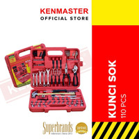 Kenmaster Tool Kit/ Kunci Sok 110 Pcs - Red Box