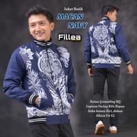 fillea jaket pria batik Macan navy allsize fit to xl puring katun ero