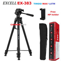 TRIPOD EXCELL EX 383 KAMERA DSLR HANDYCAM MIRRORLESS PLUS HOLDER LARGE
