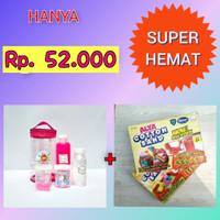 Paket Slime Kit + Cotton Sand/Slime Kit/Bahan Slime/Small PINK