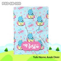 Selimut Custom Nama Bayi Anak Karakter Bulu Halus Import PSD SB 009
