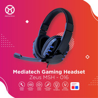 Mediatech Gaming Headset / Headphone Zeus MSH 016 - Biru