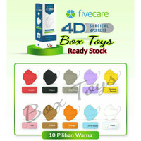 Masker FIVECARE Mask 4ply evo plusmed earloop isi 20pcs