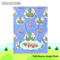 Selimut Custom Nama Bayi Anak Karakter Bulu Halus Import PSD SB 013