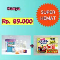 Paket Slime Kit + Cotton Sand/Slime Kit/Bahan Slime/Medium UNGU