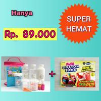 Paket Slime Kit + Cotton Sand/Slime Kit/Bahan Slime/Medium PINK
