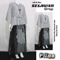 Fillea Selawan setelan batik solo alusan katun primisima+crape murah