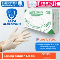 sarung tangan sensi latex gloves 1 box isi 100 pcs non powder