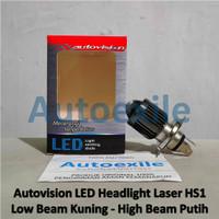 Autovision LED Laser HS1 H4 Projector Combo Kuning Putih Lampu Vixion