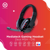 Mediatech Gaming Headset / Headphone Zeus MSH 016 - Merah
