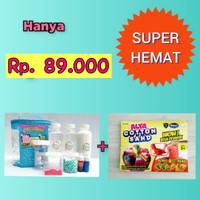 Paket Slime Kit + Cotton Sand/Slime Kit/Bahan Slime/Medium BIRU