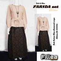 Fillea Farida setelan batik solo alusan katun primisima+crape murah