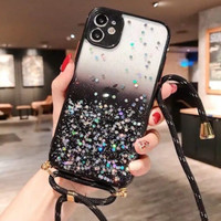 CASE CASING COVER GLITTER LIST WARNA STRAP + TALI IPHONE 11 PRO MAX