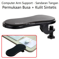 Computer Arm Support Mouse Rest Pad Sandaran Tangan Jepit Meja Kerja
