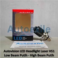 Autovision LED Laser HS1 H4 Projector Putih Lampu KLX Byson Pulsar CBR