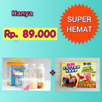 Paket Slime Kit + Cotton Sand/Slime Kit/Bahan Slime/Medium KUNING