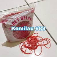 karet gelang merah kecil 100gram | karet| rubber