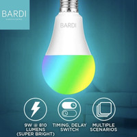 BARDI SMART LIGHT BULB RGB+WW 9W (Wifi for Home Automation)