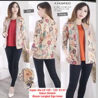Blouse Batik Super Jumbo / Blazer batik Wanita