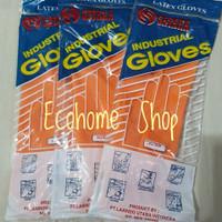 sarung tangan karet latex panjang orange merk Sataka free size